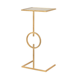 Gold Leaf and Plain Mirror End Table
