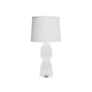 White 17-Inch Table Lamp