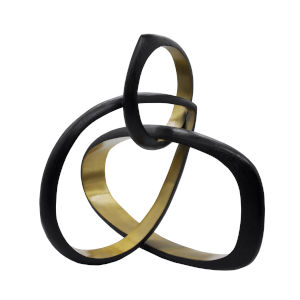 Black Powder Coat and Gold 9-Inch Sculpture