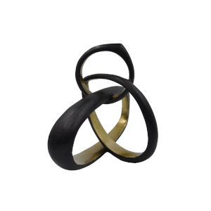Black Powder Coat and Gold 10-Inch Sculpture