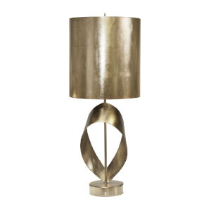 Silver Leaf 16-Inch Ribbon Table Lamp