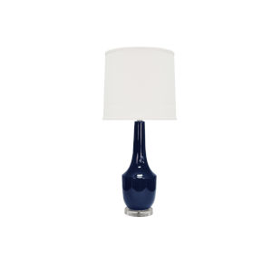 Navy and Acrylic Table Lamp