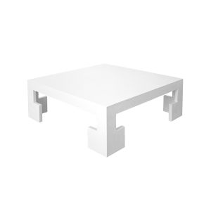 White Linen Coffee Table