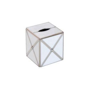 White Glass Kllenex Box