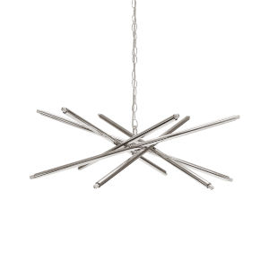 Polished Nickel 12-Light Chandelier