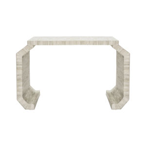 Natural Bone Console Table with Faceted Led