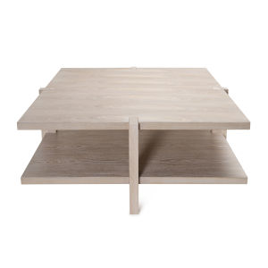 Cerused Oak Two-Tier Square Coffee Table