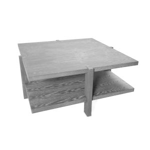 Grey Cerused Oak Two-Tier Square Coffee Table