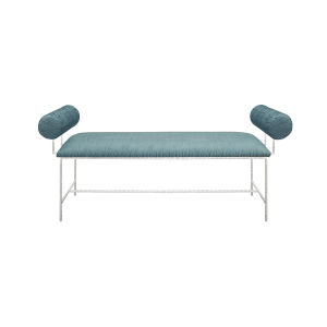 Silver Leaf and Turquoise Chevron Bench