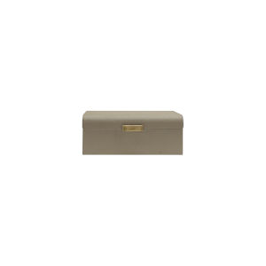 Grey Faux Shagreen and Antique Brass Decorative Box