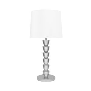 Silver Leaf 17-Inch Stacked Table Lamp