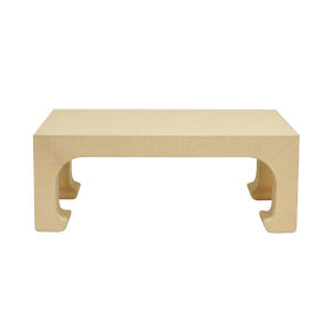 Natural Grasscloth Coffee Table