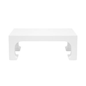 Matte White Lacquer Coffee Table