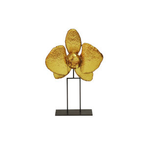 Gold Leaf 16-Inch Orchid Decorative Object