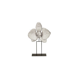 Silver Leaf 12-Inch Orchid Decorative Object