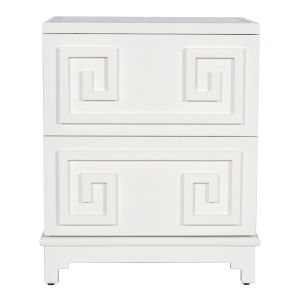 Glossy White Lacquer 24-Inch Chest