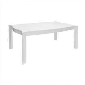 Glossy White Lacquer Dining Table