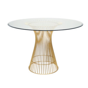 Gold Leaf 25-Inch Dining Table Base