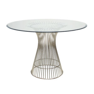 Polished Stainless Dining Table Base