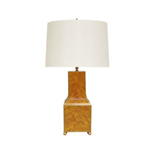 Tortoise Shell and Gold Table Lamp