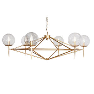 Gold Leaf Six-Light 43-Inch Chandelier