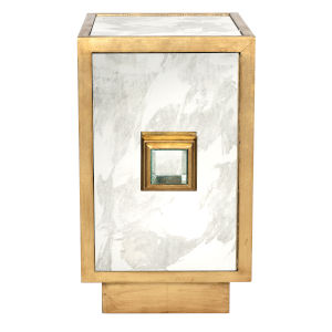 Gold Leaf and Antique Mirror Cabinet