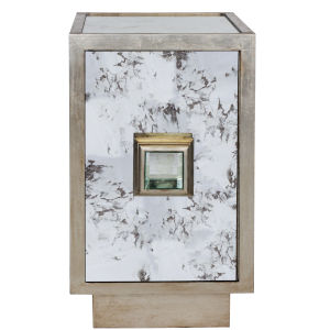 Silver Leaf and Antique Mirror Cabinet