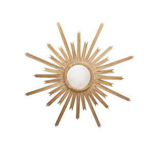 Gold Leaf Starburst Wall Mirror