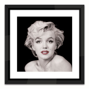 Black Lacuquer Marilyn Monroe Red Lip Wall Frame