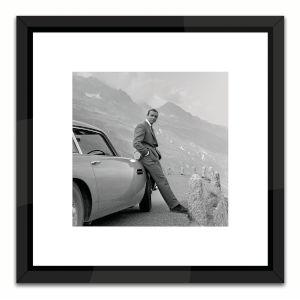 Black Lacuquer Kames Bond Aston Martin Wall Frame