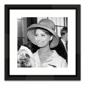 Black Lacuquer Sophia Loren Wall Frame