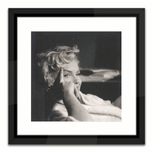 Black Lacuquer Marilyn Monroe Lounging Wall Frame