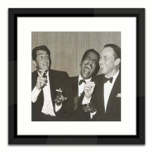 Black Lacuquer The Rat Pack Wall Frame