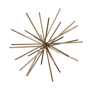 Gold Leaf 20-Inch Asterick Decorative Object
