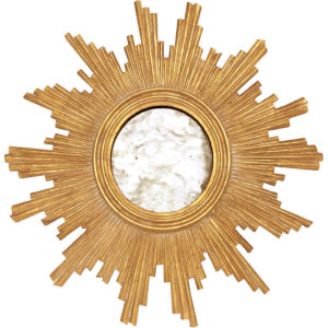 Gold Leaf and Antique Mirror Handcarved Wall Mirror