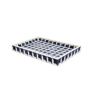 Navy and White 20-Inch Tray