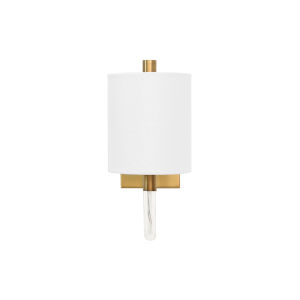 Acrylic and Antique Brass Wall Sconce