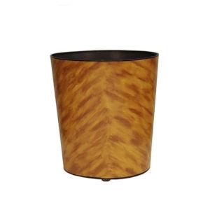 Tortoise Shell Brown Waste Basket