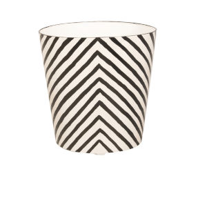 Black and Cream Zebra Waste Basket