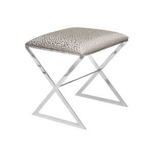 Silver Dot and Polished Nickel Side Stool