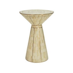 Natural Bone and Gold Side Table