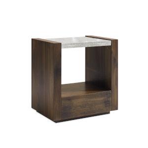 Modern Artisans Brown Best in Glass Nightstand