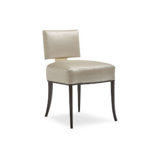 Classic Beige Reserved Seating Side Dining Chair
