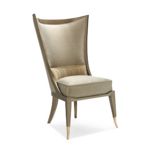 Classic Beige Collar Up Dining Chair