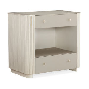 Classic Beige Lovely Nightstand