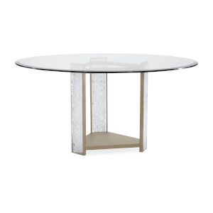 Classic Clear Break the Ice Round Dining Table