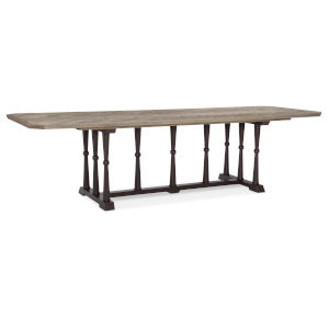 Classic Black with Brown Dinner Circuit 96 Rectangular Dining Table