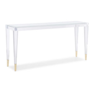 Classic Transparent Console Table