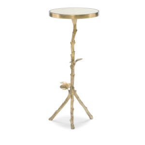 Classic Gold Sticks and Stones End Table