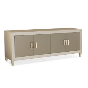 Classic Tan Media Mogul Entertainment Center